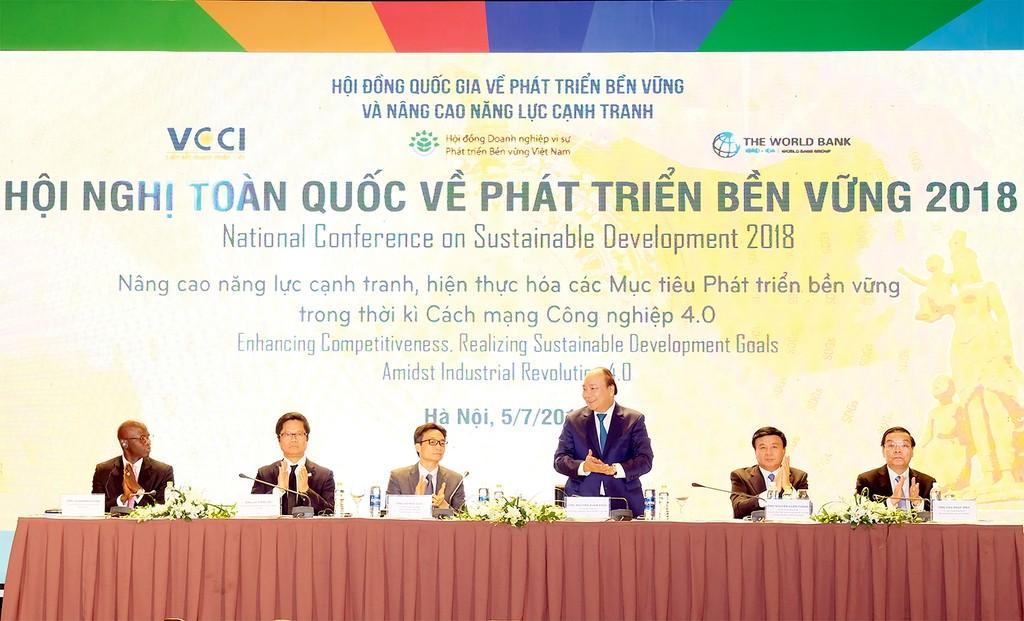 Thủ tướng Nguyễn Xuân Phúc: Chính phủ cam kết tạo cơ hội học tập những tri thức mới cho mọi người dân. Ảnh: Thanh Hải