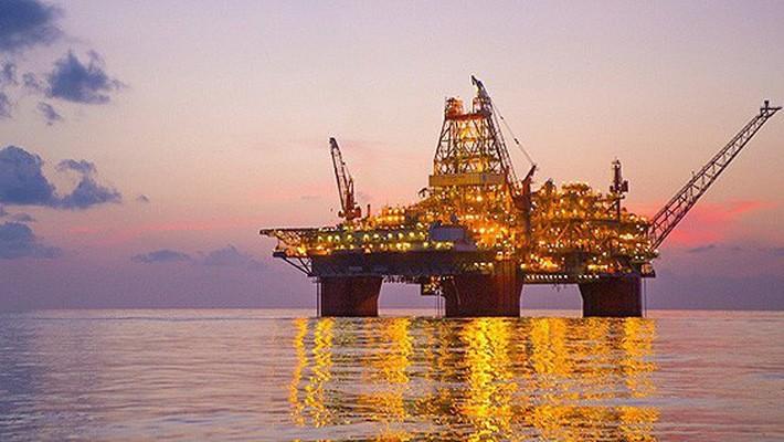 Một giàn khoan dầu của hãng BP trên Vịnh Mexico.