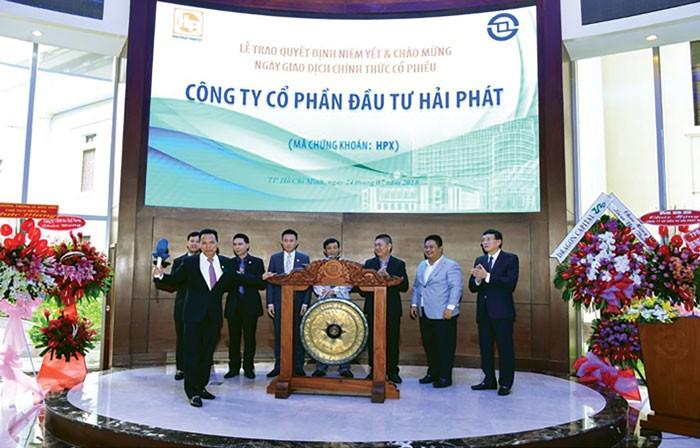 Ngày 24/07/2018, 150.000.000 cổ phiếu của Công ty CP Đầu tư Hải Phát chính thức được niêm yết trên HOSE. Ảnh: st