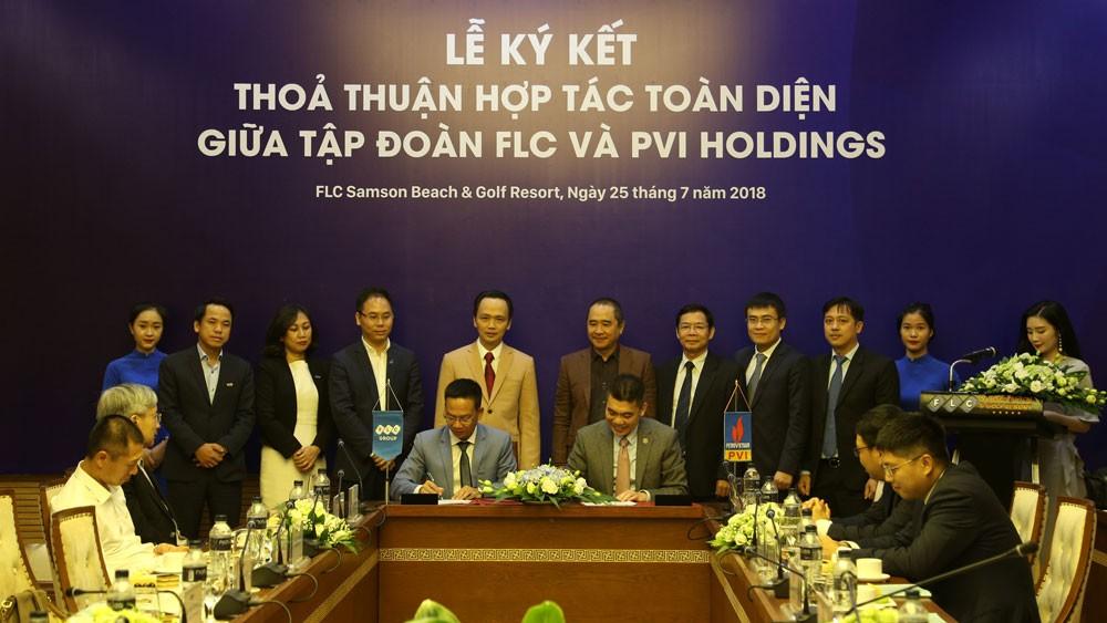 Lễ ký kết thỏa thuận hợp tác toàn diện giữa Tập đoàn FLC và PVI Holdings