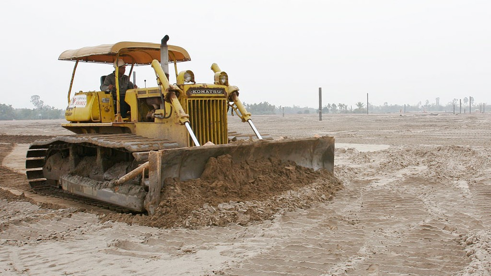 Gói thầu Thi công hạng mục san nền do Trung tâm Phát triển quỹ đất Long An làm chủ đầu tư, trực tiếp mời thầu. Ảnh: Tường Lâm