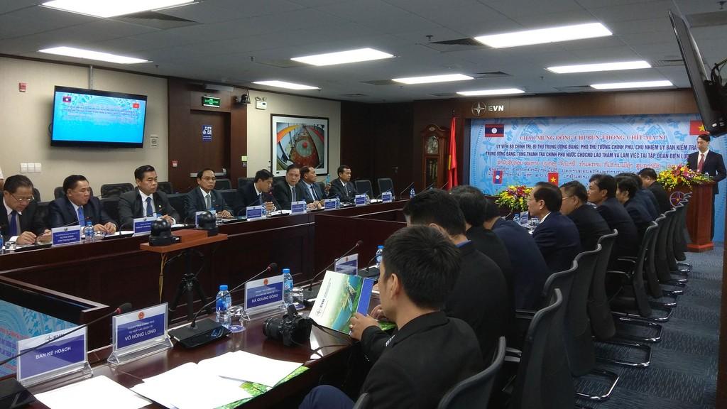 Đoàn công tác cấp cao của Thanh tra Chính phủ Lào và Tập đoàn Điện lực Việt Nam thảo luận về triển vọng hợp tác trong lĩnh vực điện lực