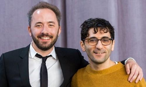 Drew Houston (trái) vàArash Ferdowsi - hai nhà đồng sáng lập Dropbox. Ảnh:Dropbox