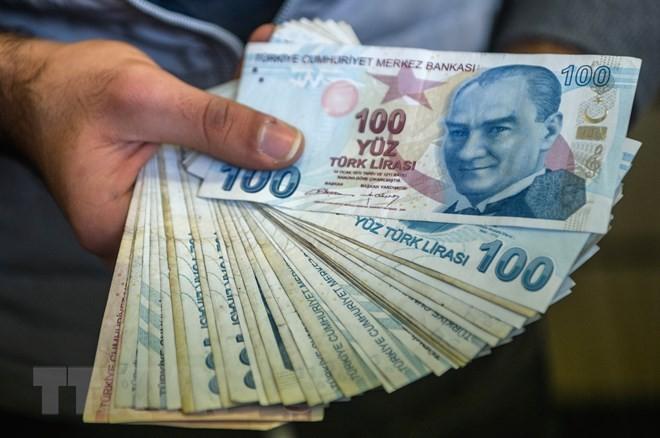 Đồng lira của Thổ Nhĩ Kỳ. (Ảnh: AFP/TTXVN)