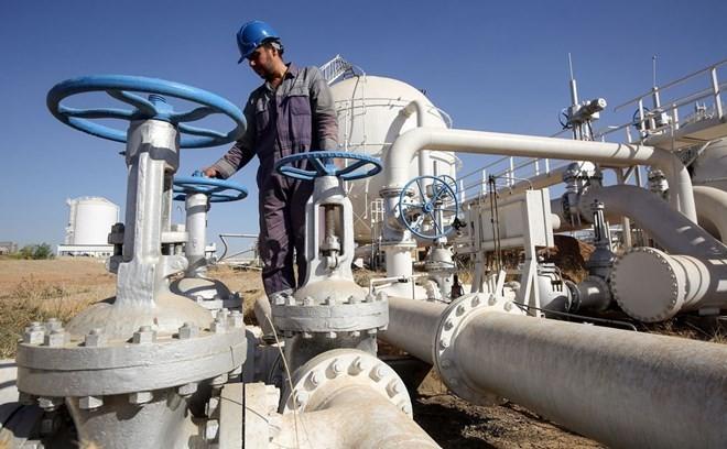 Một nhân viên của Iraq kiểm tra đường ống dẫn dầu tại Bai Hassan. (Nguồn: AFP/Getty Images)