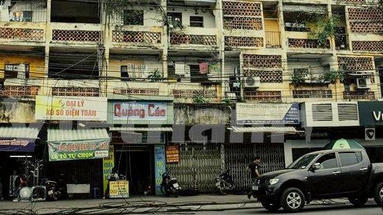 Công ty CP Đầu tư dịch vụ tài chính Hoàng Huy trúng thầu nhiều dự án cải tạo chung cư cũ tại Hải Phòng trong thời gian gần đây. Ảnh: Trần Sơn