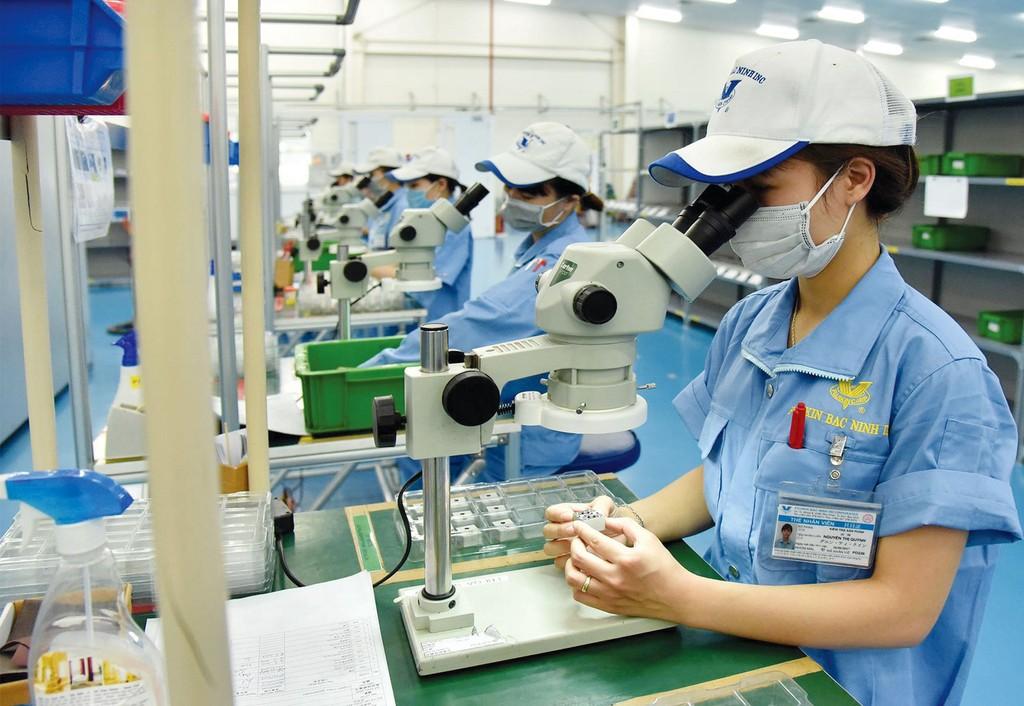 Sự gia tăng số lượng doanh nghiệp FDI trong ngành chế biến, chế tạo đã góp phần quan trọng thay đổi cơ cấu lao động của Việt Nam. Ảnh: Đăng Khoa