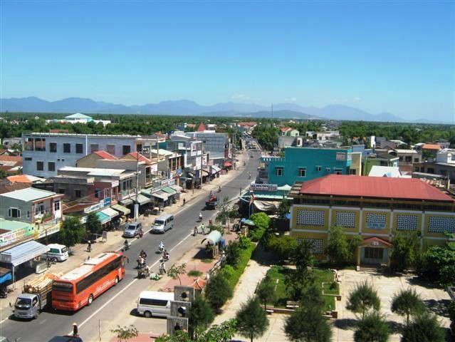 Một góc thị xã Điện Bàn, tỉnh Quảng Nam (nguồn: Internet)