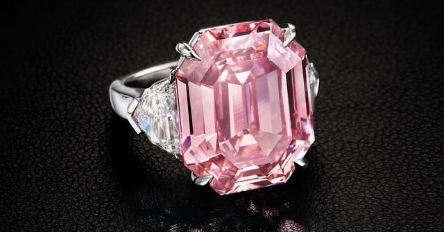 Viên kim cương 18,95 carat màu hồng lấp lánh có tên The Pink Legacy. (Nguồn: Christie's Images LTD. 2018)