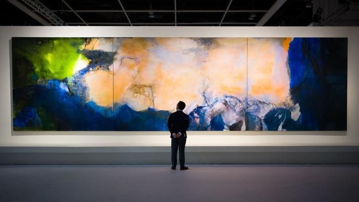 """Bức tranh sơn dầu dài hơn 10m """"Juin-Octobre 1985"""" - Ảnh: Getty Images."""
