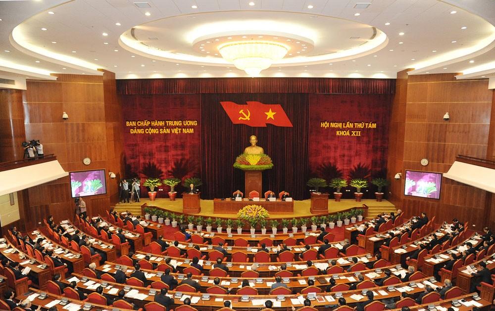 Quang cảnh Hội nghị lần thứ 8, Ban Chấp hành Trung ương Đảng Cộng sản Việt Nam khóa XII. Ảnh: Trần Thanh Hải
