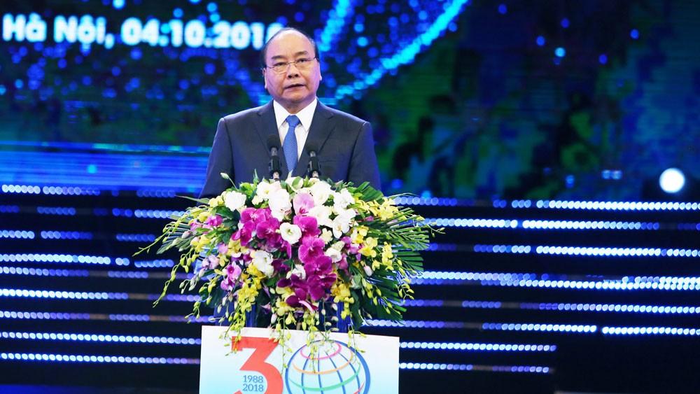 Thủ tướng Chính phủ đánh giá doanh nghiệp FDI là thành viên tích cực trong đại gia đình các doanh nghiệp Việt Nam. Ảnh: Lê Tiên