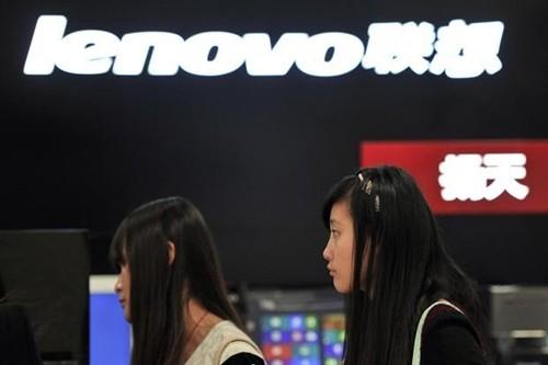 Gian hàng của Lenovo tại một sự kiện ở Trung Quốc. Ảnh:Reuters
