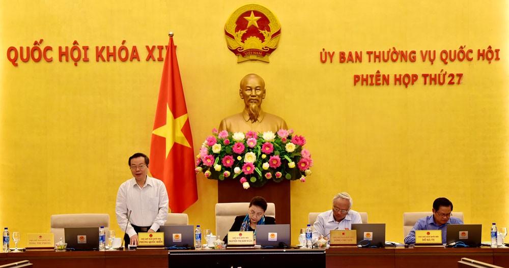 Phiên họp thứ 28 của Ủy ban Thường vụ Quốc hội sẽ diễn ra trong 3 ngày (từ 15/10 - 17/10/2018). Ảnh: Vũ Quang Khánh