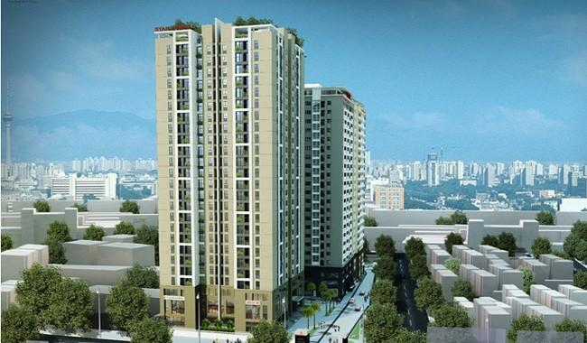 Dự án Tòa nhà chung cư và dịch vụ Star Tower  tiền sử dụng đất phải nộp là 22,2 tỷ đồng. Ảnh Internet