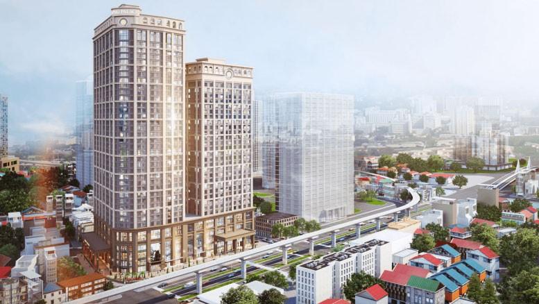 Phối cảnh Dự án Khu hỗn hợp trung tâm thương mại, dịch vụ công cộng, văn phòng và nhà ở để bán tại 108 đường Nguyễn Trãi, quận Thanh Xuân, Hà Nội