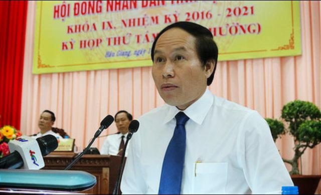 Đồng chí Lê Tiến Châu, Phó Bí thư Tỉnh ủy, Chủ tịch UBND tỉnh Hậu Giang.