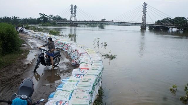 Sông Bùi trong mùa mưa bão 2018 (Nguồn: Internet)