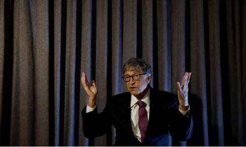 Bill Gates trong sự kiện Reinvented Toilet Expo hôm nay. Ảnh:Reuters