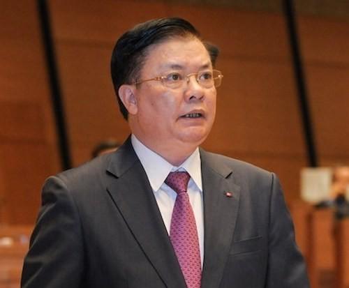 Bộ trưởng Tài chính Đinh Tiến Dũng.Ảnh: Cổng thông tin Quốc hội