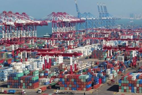 Container tại cảng biển ở Thanh Đảo (Sơn Đông, Trung Quốc). Ảnh:Reuters