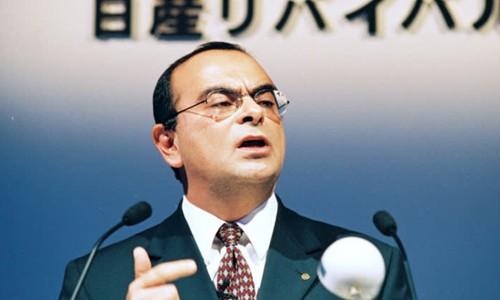 Ông Carlos Ghosn thời điểm mới đến Nissan. Ảnh:Nikkei