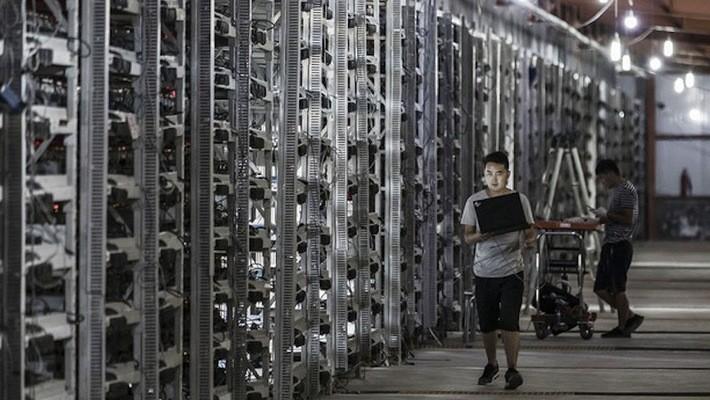 """Bên trong một """"mỏ"""" đào Bitcoin ở Trung Quốc."""