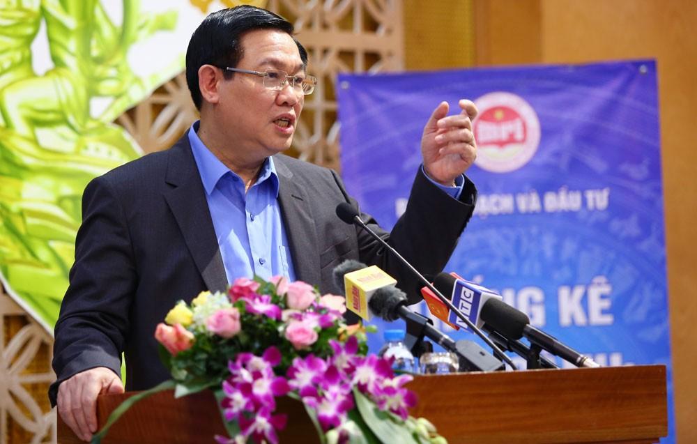 Phó Thủ tướng Chính phủ Vương Đình Huệ chủ trì Hội nghị thống kê bộ, ngành năm 2018. Ảnh: Lê Tiên