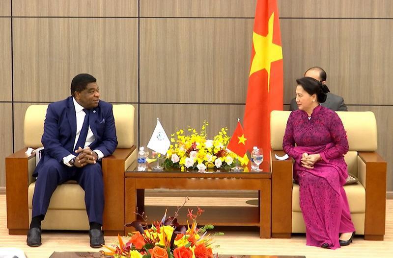 Chủ tịch Quốc hội Nguyễn Thị Kim Ngân và Tổng Thư ký IPU Martin Chungong