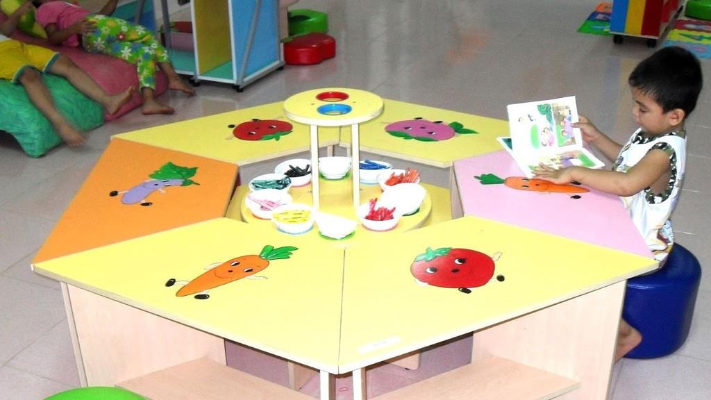 Gói thầu Trang thiết bị dạy học thuộc Dự án Mua sắm trang thiết bị dạy học tại Trường Mầm non Lộc Phát, thành phố Bảo Lộc, Lâm Đồng. Ảnh: Tâm Như