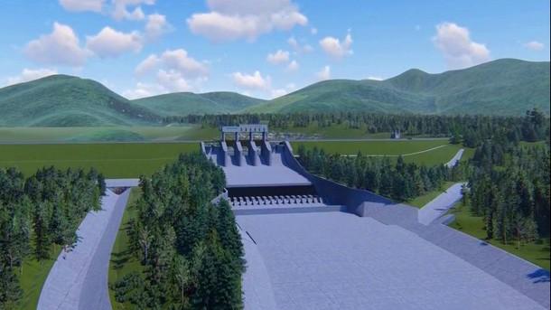 Phối cảnh tràn xả lũ Dự án Hồ chứa nước Mỹ Lâm