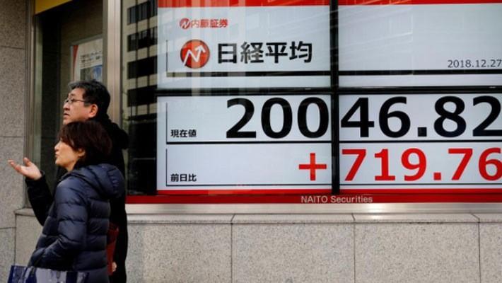Chứng khoán Nhật Bản đã có một phiên tăng mạnh - Ảnh: Reuters.