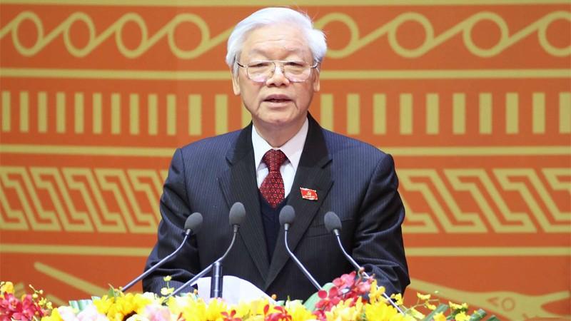 Tổng Bí thư, Chủ tịch nước Nguyễn Phú Trọng phát biểu chỉ đạo tại Hội nghị Chính phủ với các địa phương. Ảnh: Nhật Bắc