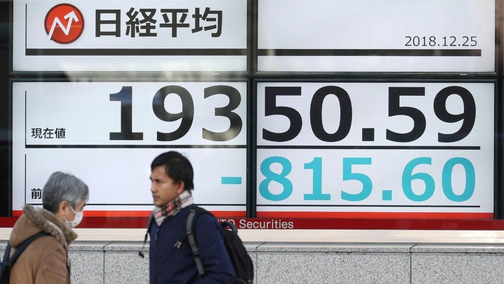 Nhật Bản cũng là một trong số những thị trường chứng khoán có mức giảm điểm mạnh nhất ở khu vực châu Á năm 2018 - Ảnh: Getty/MarketWatch.
