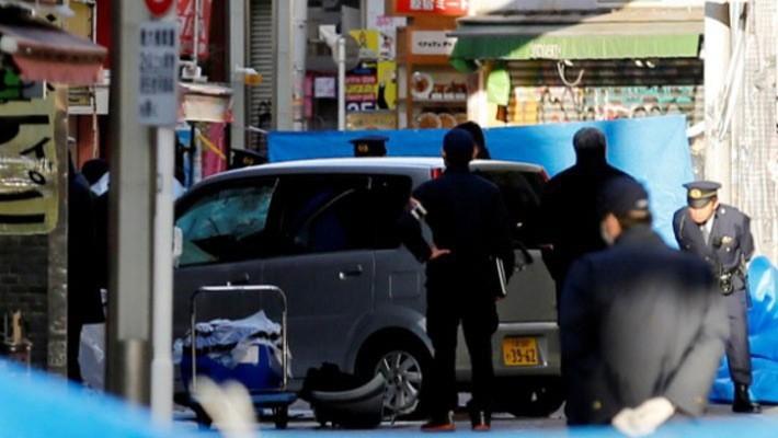 Hiện trường vụ tấn công bằng xe tải ở Tokyo ngày 1/1/2019 - Ảnh: Reuters.