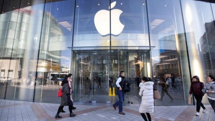 Bên ngoài một cửa hiệu Apple Store ở Bắc Kinh, Trung Quốc - Ảnh: Reuters.