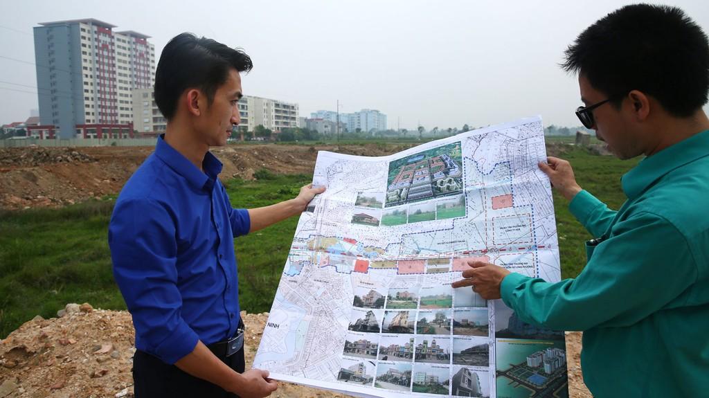 Dự án Xây dựng tuyến đường H2, TP. Bắc Ninh có tổng chiều dài là 1.354,59 m với tổng mức đầu tư là 663,12 tỷ đồng. Ảnh: Lê Tiên