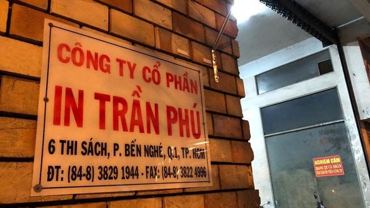 Công ty In Trần Phú đang quản lý và sử dụng nhiều khu đất đắc địa tại TP.HCM