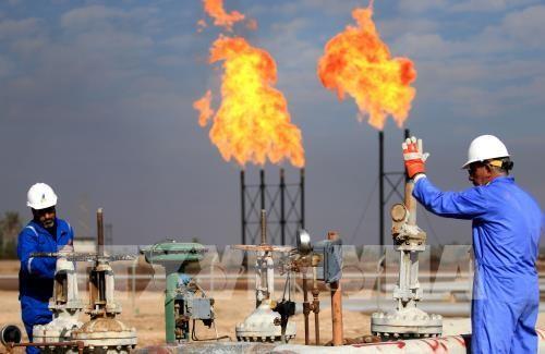 Giá dầu thế giới tiếp tục đà đi lên. Ảnh: TTXVN