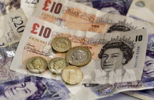 Tỷ giá đồng bảng Anh tăng. Ảnh: TTXVN phát