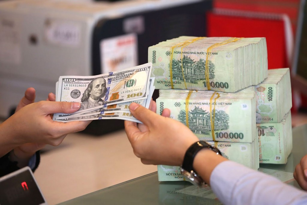 Dự báo VND sẽ chỉ giảm giá khoảng 2,5 - 3% so với đồng USD trong năm 2019. Ảnh: Minh Dũng