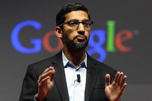 CEO Google - Sundar Pichai trong một sự kiện của công ty. Ảnh:Reuters