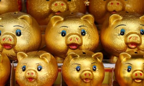 Lợn đất được bày bán trong một cửa hàng ở Seoul (Hàn Quốc). Ảnh:Be Bouchard