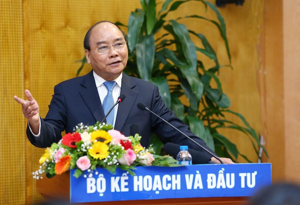Thủ tướng yêu cầu Bộ Kế hoạch và Đầu tư phải đưa ra các thể chế vượt trội, hiệu quả hơn. Ảnh: Lê Tiên