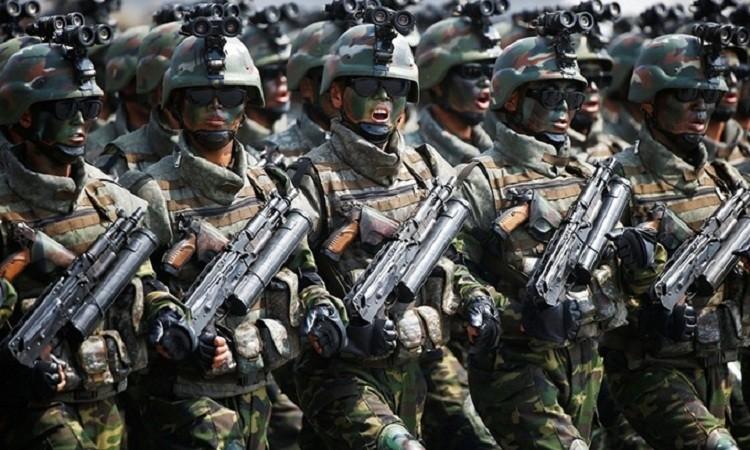 Các thành viên Đơn vị 525 của Triều Tiên. Ảnh: Reuters.