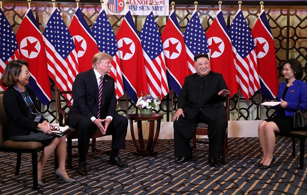 Những hình ảnh ấn tượng trong cuộc gặp của lãnh đạo Mỹ - Triều tại Hà Nội - ảnh 3