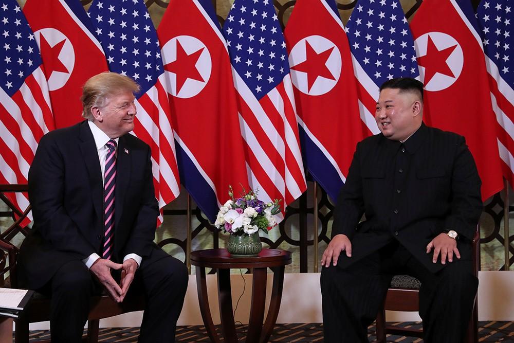 Những hình ảnh ấn tượng trong cuộc gặp của lãnh đạo Mỹ - Triều tại Hà Nội - ảnh 4