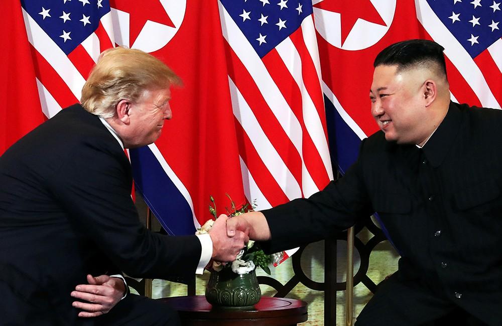 Những hình ảnh ấn tượng trong cuộc gặp của lãnh đạo Mỹ - Triều tại Hà Nội - ảnh 5