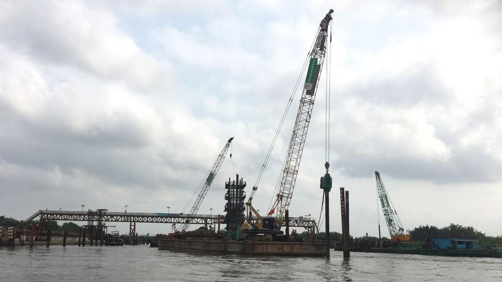 Dự án BT gần 10.000 tỷ đồng do Tập đoàn Trung Nam làm nhà đầu tư có mục tiêu giúp giảm ngập do thủy triều cho khu vực 570km2. Ảnh: Văn Huyền