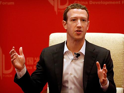 Mark Zuckerberg, CEO Facebook. Ảnh:AP